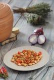 Fagioli dell'alimento, ceci, grano Fotografie Stock Libere da Diritti
