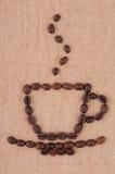 Fagioli della tazza di caffè. Fotografia Stock