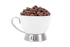 Fagioli della tazza di caffè Immagini Stock Libere da Diritti
