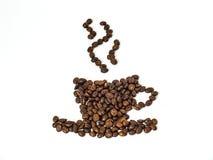 Fagioli della tazza di caffè Immagini Stock