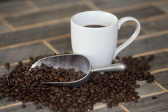 Fagioli di Coffe Fotografia Stock