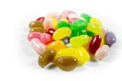 Fagioli di gelatina su bianco Fotografia Stock