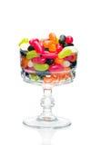 Fagioli di gelatina in un vetro Fotografia Stock