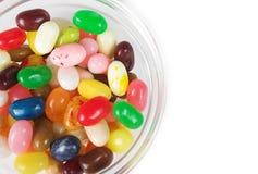 Fagioli di gelatina in una ciotola Immagini Stock Libere da Diritti