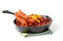 Fagioli e pancetta affumicata Fotografia Stock