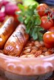 Fagioli e salsiccia Fotografia Stock
