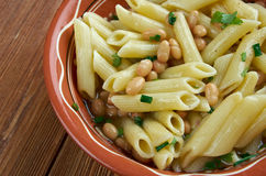 Fagioli för pasta e Royaltyfri Fotografi