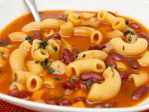Fagioli för pasta e Royaltyfria Bilder