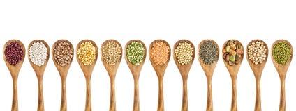 Fagioli, lenticchie e raccolta del pisello Immagini Stock Libere da Diritti