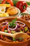 Fagioli messicani del peperoncino rosso Immagini Stock Libere da Diritti