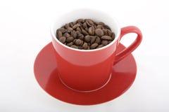 Fagioli rossi della tazza di caffè Fotografie Stock Libere da Diritti
