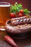Fagioli in salsa Immagini Stock