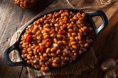 Fagioli in salsa casalinghi del barbecue Immagine Stock Libera da Diritti
