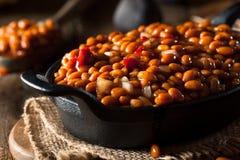 Fagioli in salsa casalinghi del barbecue Fotografia Stock