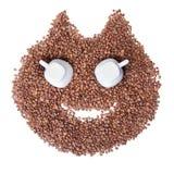 Fagioli sorridenti di Cat Coffee immagini stock libere da diritti