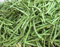Fagioli verdi da vendere nel servizio Immagini Stock