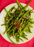 Fagiolini cucinati organici freschi Fotografia Stock Libera da Diritti