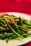 Fagiolini cucinati organici freschi Fotografia Stock
