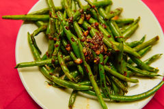 Fagiolini cucinati organici freschi Immagini Stock Libere da Diritti