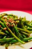 Fagiolini cucinati organici freschi Immagine Stock Libera da Diritti