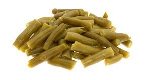 Fagiolini organici del taglio su un fondo bianco Fotografia Stock