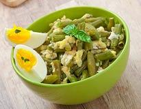 Fagiolini verdi con le uova Immagini Stock Libere da Diritti