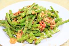 Fagiolini verdi dell'aglio Fotografie Stock Libere da Diritti