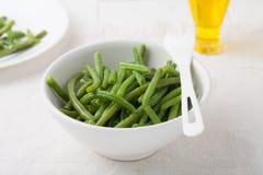 Fagiolini verdi in una ciotola Fotografia Stock Libera da Diritti