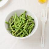 Fagiolini verdi in una ciotola Fotografia Stock