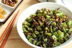 Fagiolino verde fritto foodââ cinese Fotografia Stock Libera da Diritti