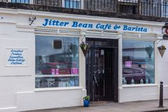 Fagiolo Café del nervosismo in Queensferry Scozia, Regno Unito fotografia stock libera da diritti