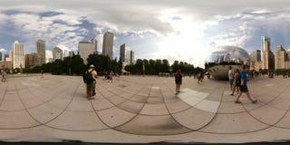 Fagiolo del portone della nuvola a Chicago del centro Fotografia Stock Libera da Diritti
