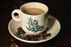Fagiolo della tazza di caffè Immagini Stock Libere da Diritti