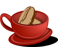 Fagiolo della tazza di caffè royalty illustrazione gratis