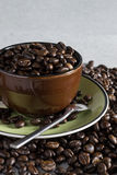 Fagiolo della tazza di caffè Immagine Stock