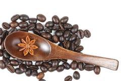 Fagiolo di Anise Coffee della stella fotografia stock libera da diritti