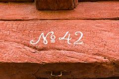 Fagiolo di legno senza 42 Fotografie Stock Libere da Diritti
