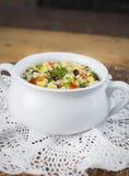 Fagiolo nero del glutine delizioso, mais ed insalata liberi della quinoa Fotografie Stock Libere da Diritti