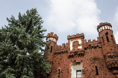"""Fagment de la puerta de Kholm en el héroe-Fortressconmemorativo del complejo """"Brest"""" Fotografía de archivo libre de regalías"""