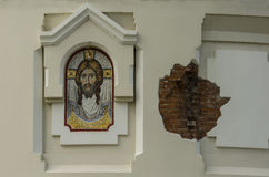 Fagment of the St. Nicholas�s Garrison Church Royalty Free Stock Photos