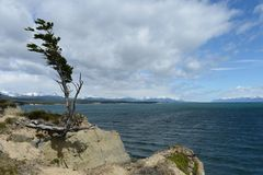 Fagnano or Kami is the largest lake on the island of Tierra del Fuego. Royalty Free Stock Images