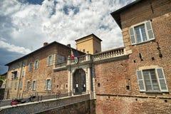 Fagnano Olona Italien, slotten arkivbilder