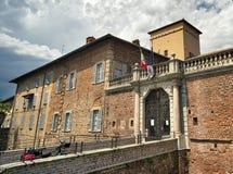 Fagnano Olona Italien, slotten royaltyfri foto