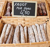 Fagot saussage from Provence Royalty Free Stock Photos