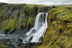 Fagrifoss瀑布 库存图片