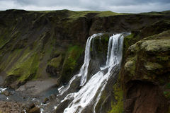 Fagrifoss (Beautifull waterfall) in Lakagigar area, south Iceland Royalty Free Stock Photos