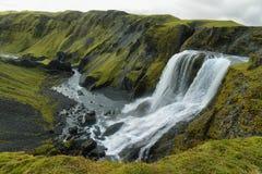 Fagrifoss-Wasserfall Stockbilder