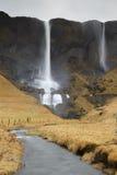 Fagrifoss waterfall Stock Image