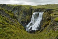Fagrifoss waterfall Royalty Free Stock Photography