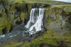 Fagrifoss waterfall Royalty Free Stock Photo